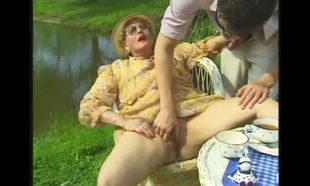 porked near the pond in warm vintage