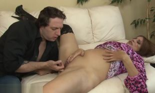 Buxom mature nymph gets cunt and donk..