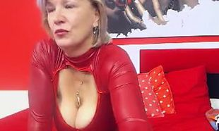 Huge-chested Grandmother Linda 50..
