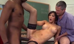 Bitchy Lecturer Anal invasion Hotwife..