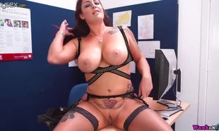 Stringent woman inspector roxy r gets..