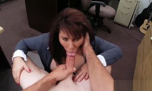Phat titties Cougar boned to earn cash..