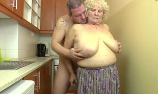 Big-boobed Hungarian Grannie Kitti..