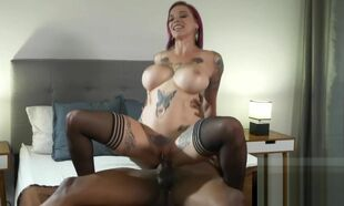 Hot Tattooed Redhead Loves Fat..