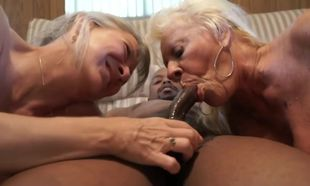 mature grandmas share big black cock..