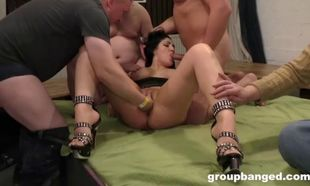Cum caked gang-bang empress