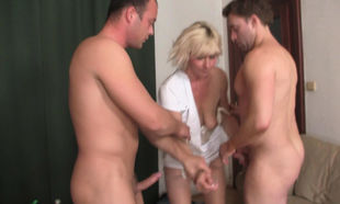 Insatiable towheaded elderly mature..